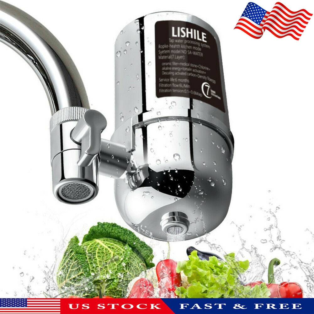 Tap Faucet Water Filter Purifier System Kitchen Faucet Mount Cleaner Home Chrome