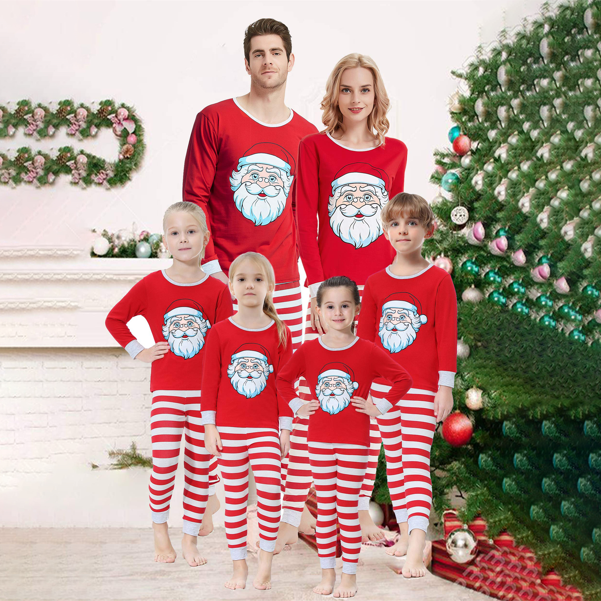 Christmas Pajamas Womens.Details About Matching Christmas Pajamas Women Men Kids Sleepwear Holiday Nightwear Outfits