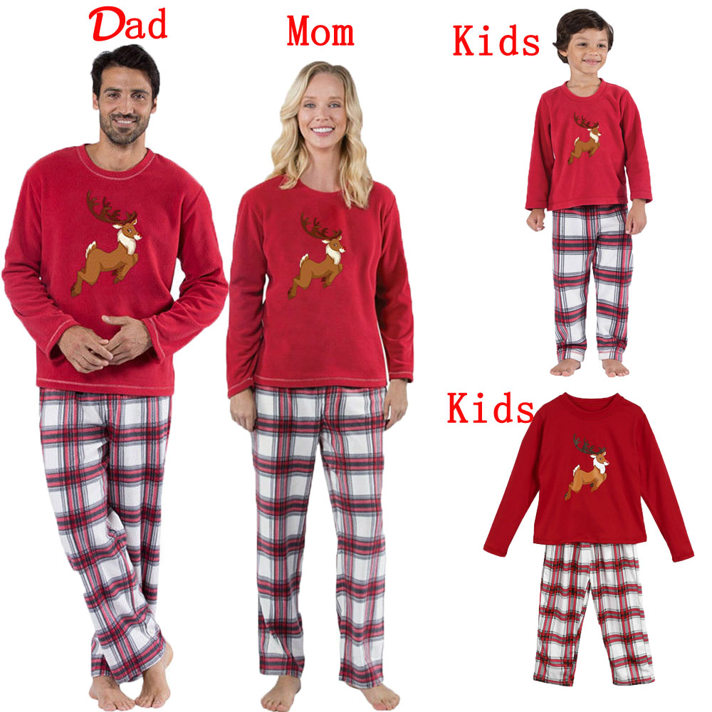 Kids Christmas Pajamas.Details About Family Christmas Pajamas Set Xmas Pjs Matching Pyjamas Adult Kids Xmas Sleepwear