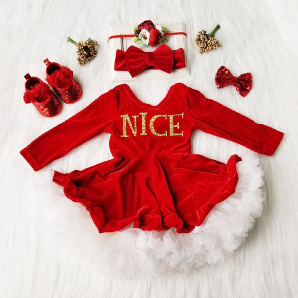 Christmas Party Dresses 2019 Uk.Details About Uk 2019 Kids Baby Girls Christmas Xmas Clothes Velvet Princess Party Dress Bow