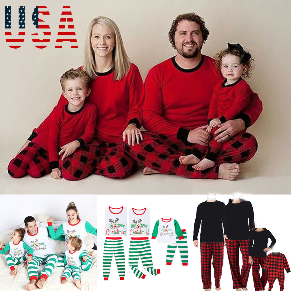 Best Family Christmas Pajamas.Details About Family Christmas Pajamas Set Xmas Pjs Matching Pyjamas Adult Kids Xmas Sleepwear