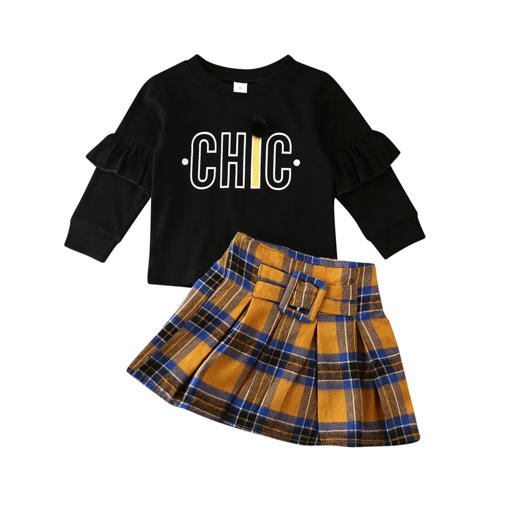 UK Kids Baby Girls Outfit Swan Tops Pants Set Toddler Spring Clothes Tracksuit