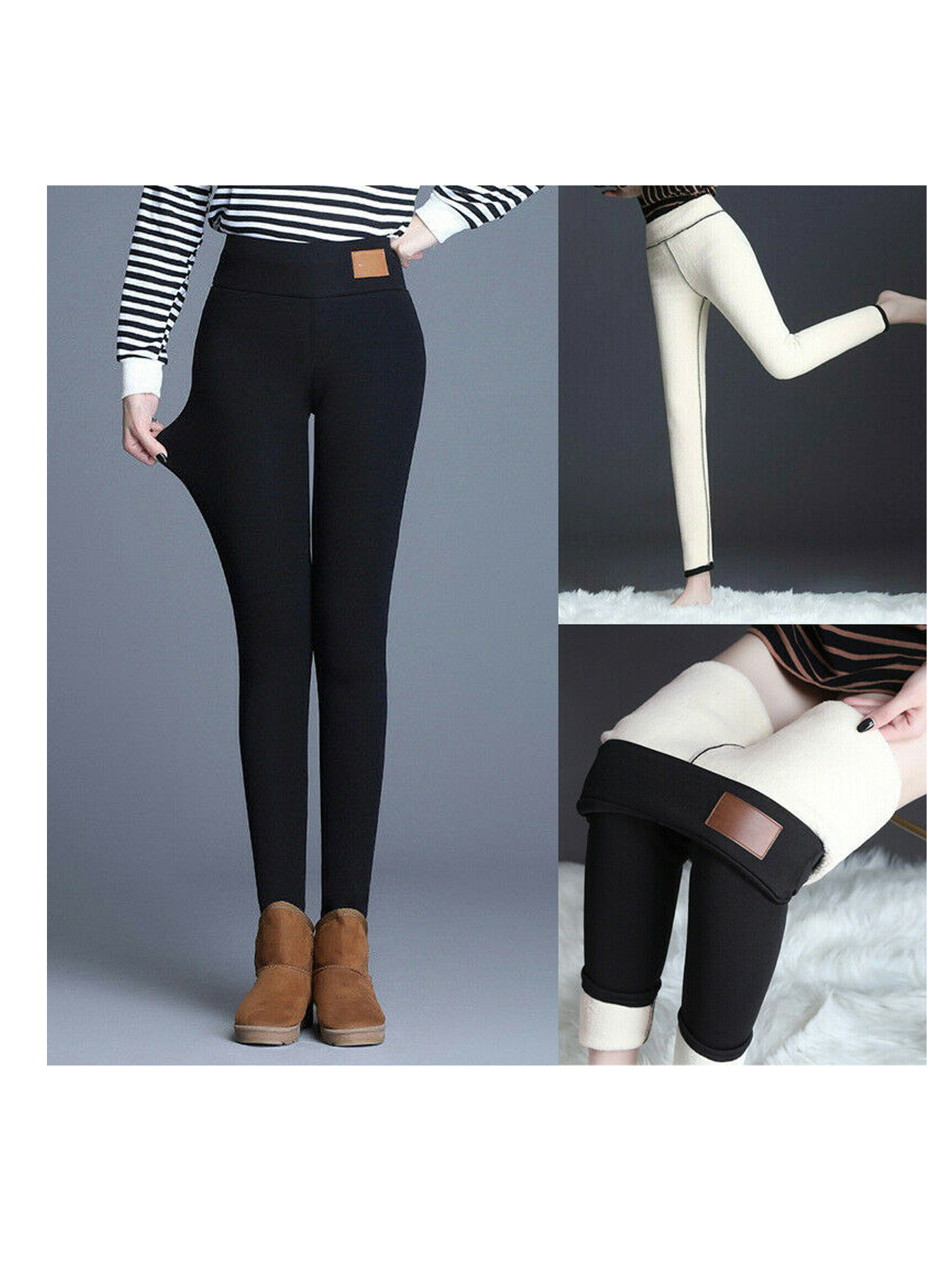 Women/'s Winter Thick Warm Fleece Lined Thermal Stretchy Skinny Leggings Pants