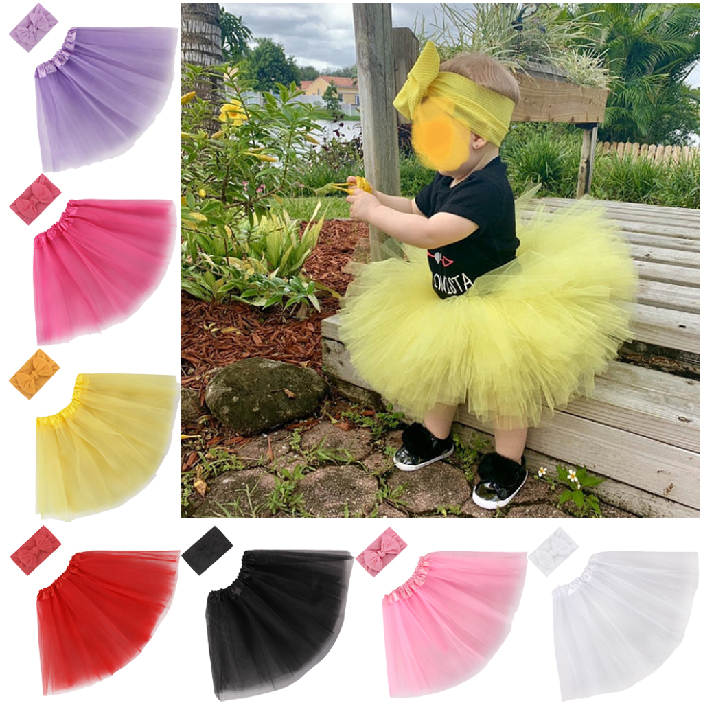 UK Newborn Tutu Toddler Baby Girl Skirt /& Headband Photo Prop Costume Outfit
