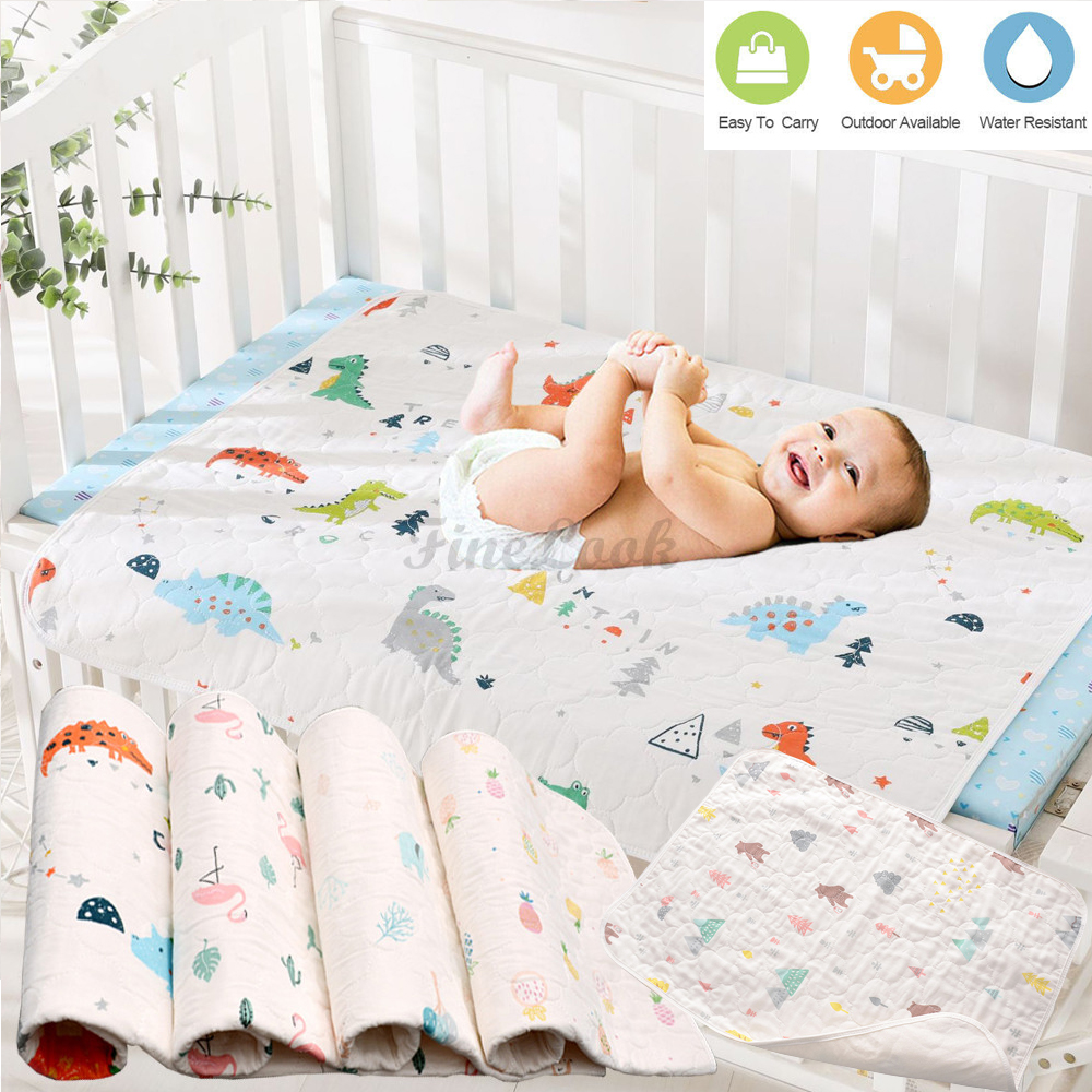 Changing Diaper Pad Cotton Washable Baby Infant Urine Mat Nappy Diaper Bed CS