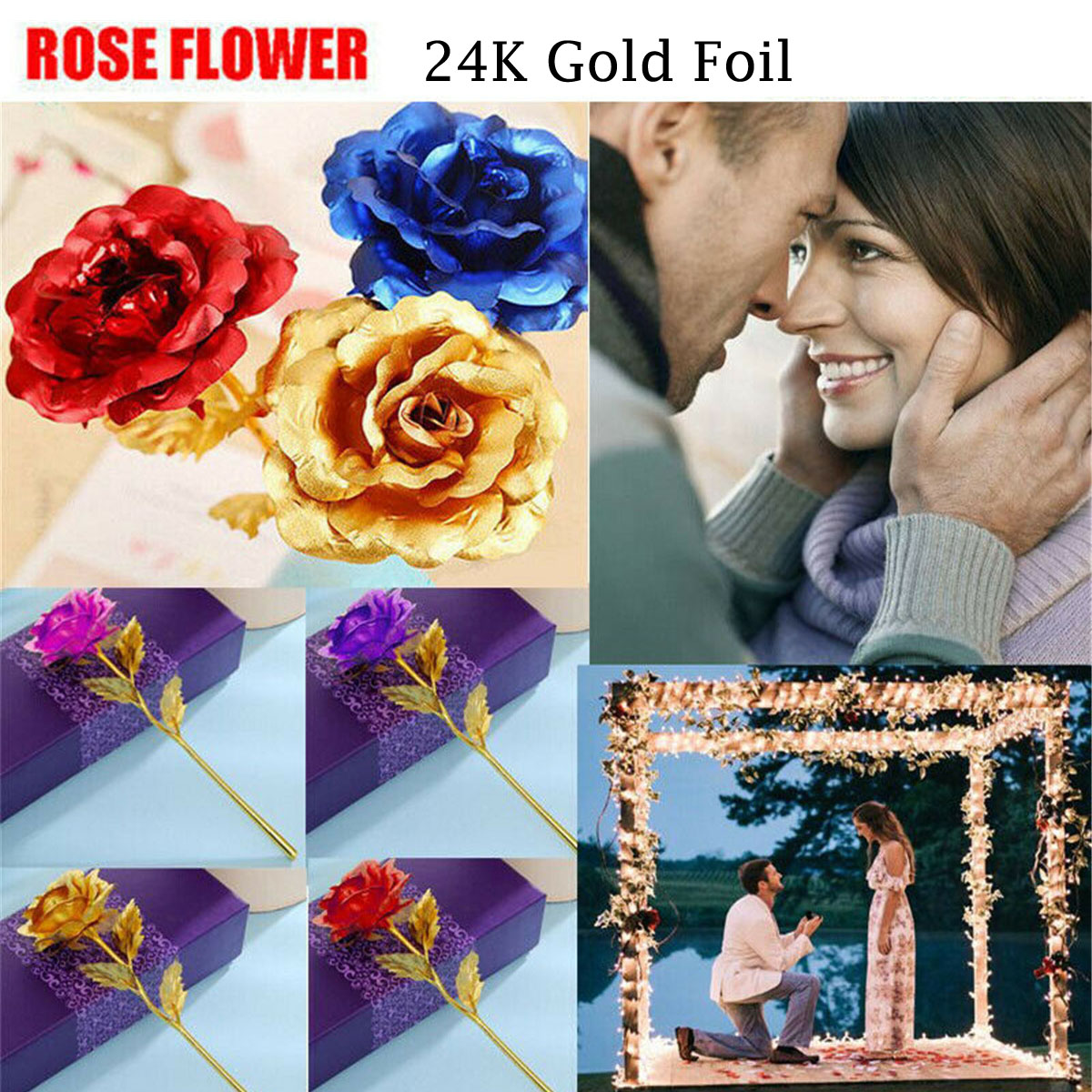 24K Gold Plated Galaxy Rose Valentine/'s Day Gifts Girlfriend Wife Love Presents