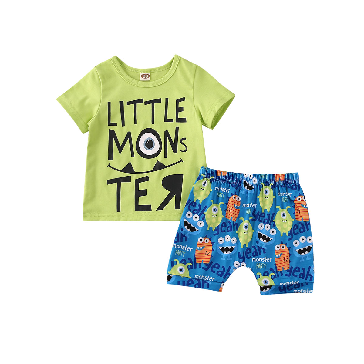 US Baby Boy Toddler Kids T-Shirt Top Shorts Pants 2PCS Outfit Summer Clothes