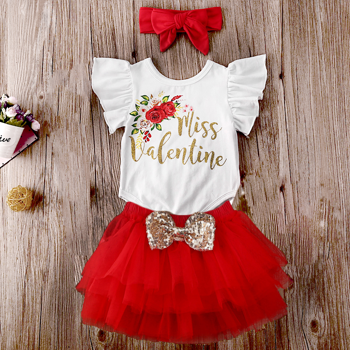Infant Baby Girls Long Sleeve Solid Color Ruched Floral Flower Bow Skirt Clothes