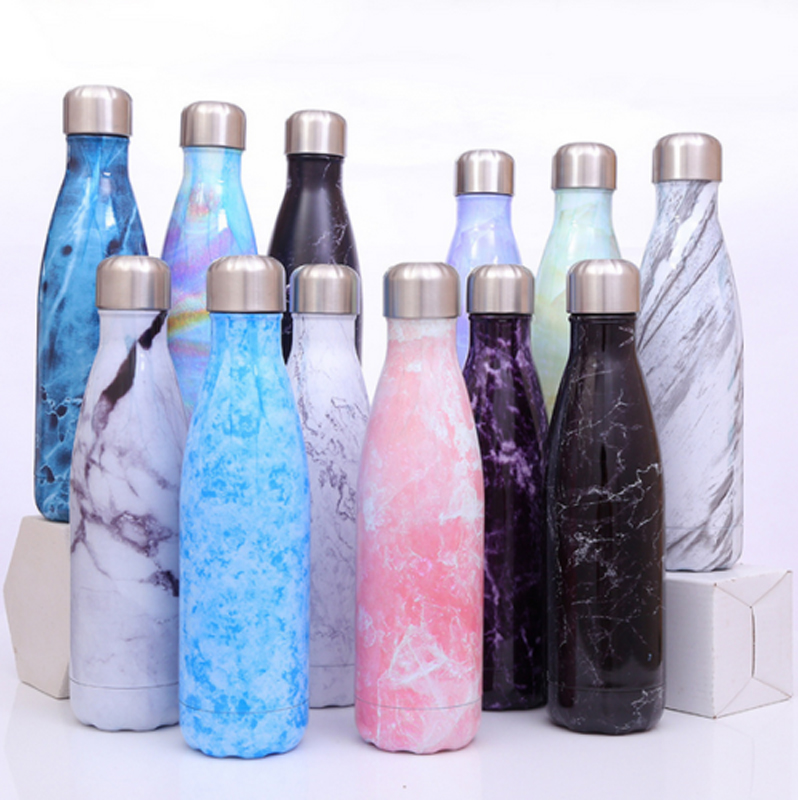 500ml Water Bottles Vacuum Insulated Flask Thermal Sports Travel Chilly Warm Cup