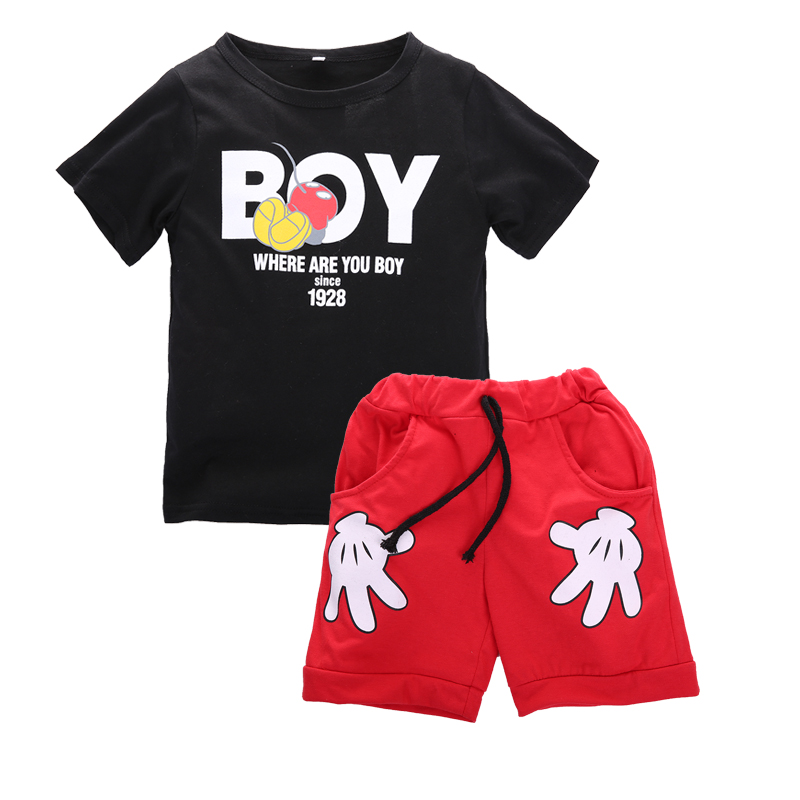 8201fe39c 2PCS Toddler Kids Boy Summer Outfits Clothes Mickey Mouse T-shirt+Shorts  Set | eBay