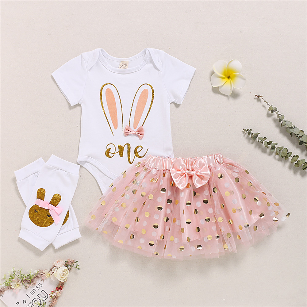 Newborn Baby Girl Clothes Set Romper+Cake Skirt Shorts Outfits Clothes Set 0-3T