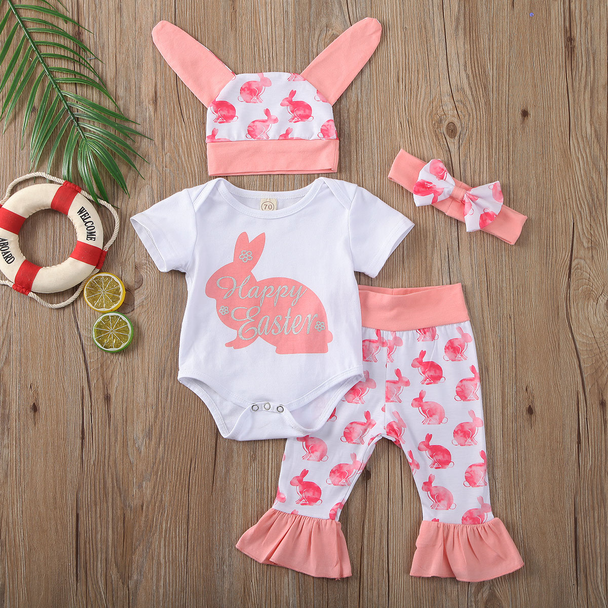 Personalised My First Easter 2019 Baby Vest Romper Baby Gifts Bunny Cute Easter