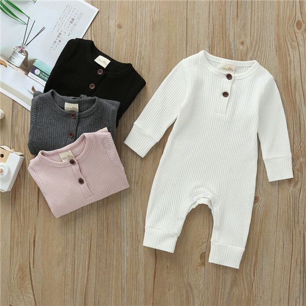UK Newborn Baby Boy Girl Long Sleeve Knitted Romper Jumpsuit One-Pieces Clothes