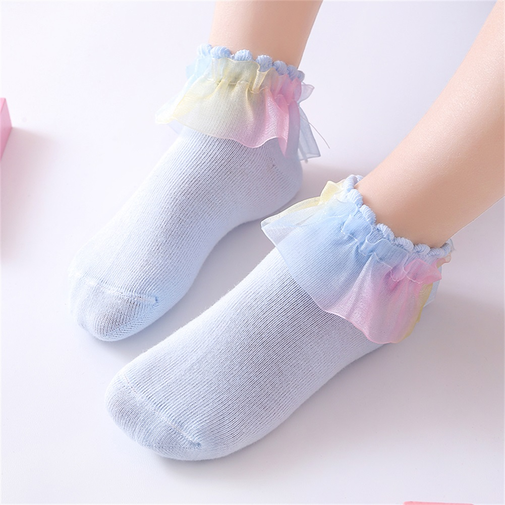 Infant Baby Girl Lace Ruffle Frilly Ankle Socks Sweet Princess Soft Cotton Socks