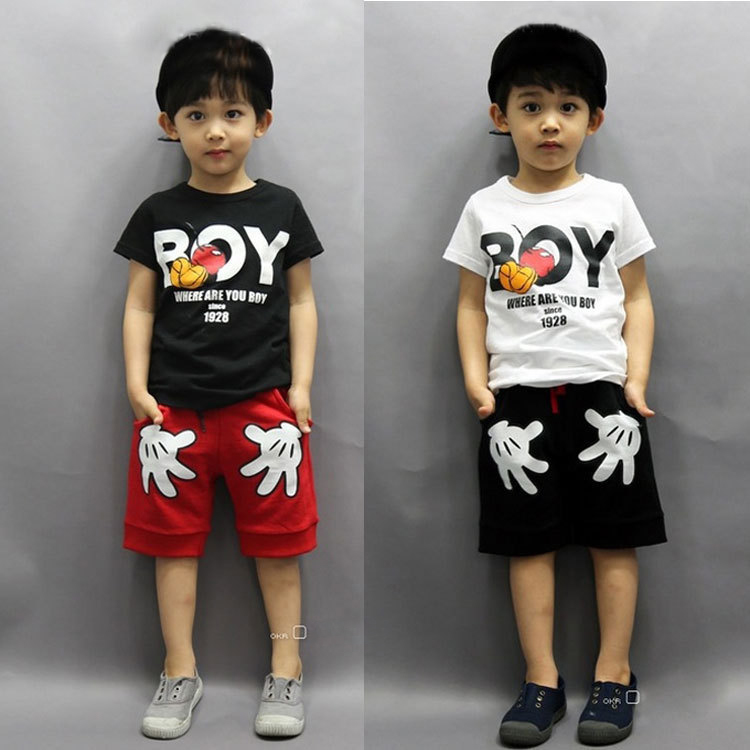 6cc43ca3 Details about 2PCS Toddler Kids Boy Summer Outfits Clothes Mickey Mouse T- shirt+Shorts Set