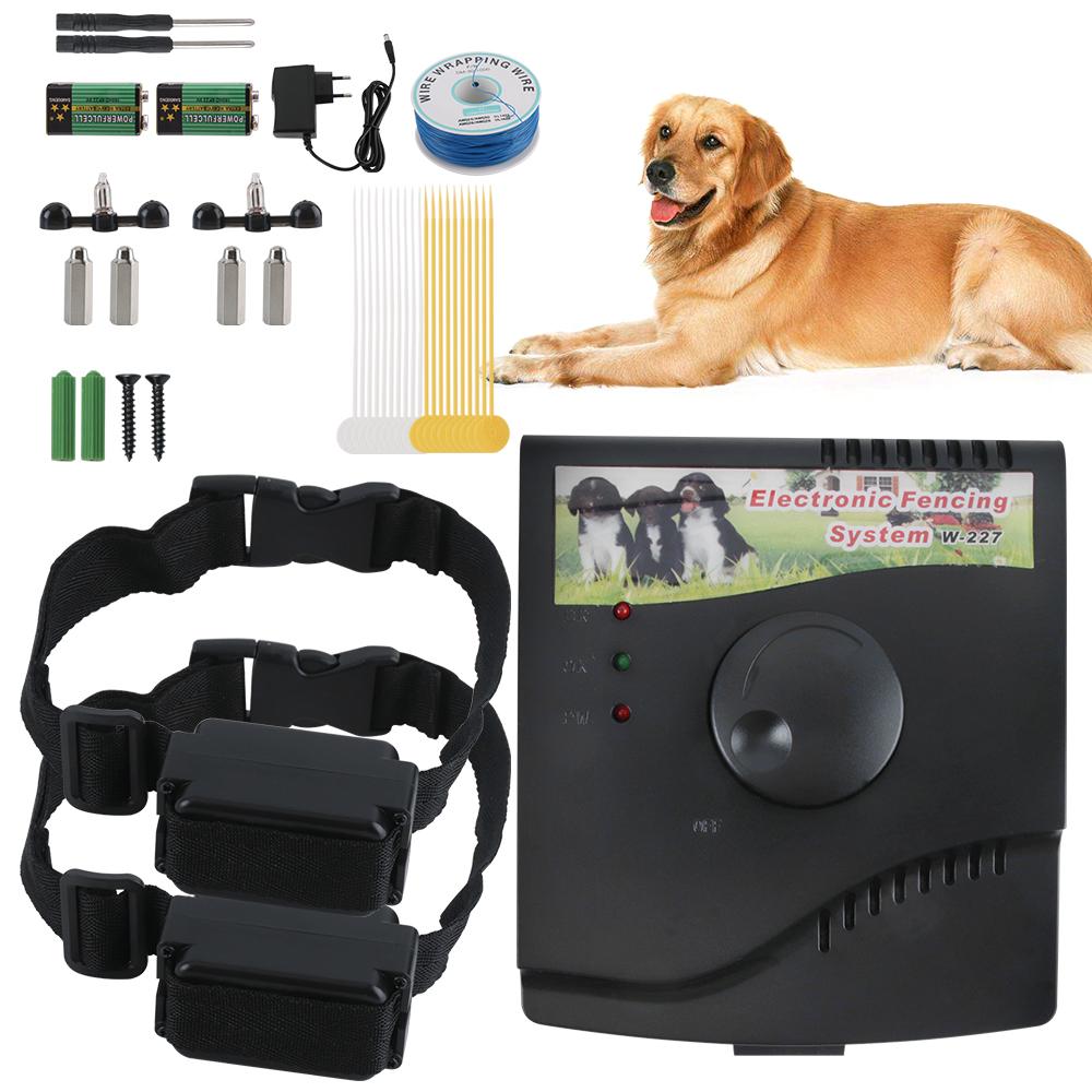 New Electric Underground Shock Audio Collar 2 Dog Pet Fence System Waterproof