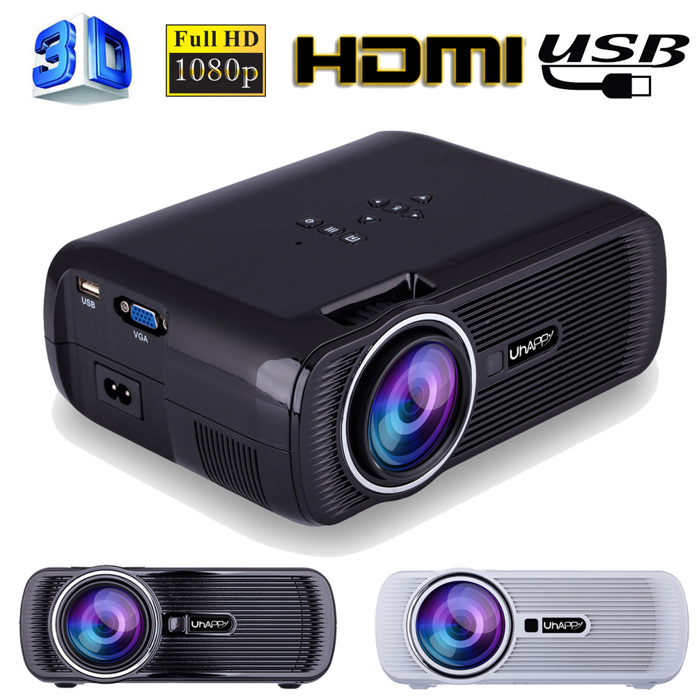 Mini 1080P Full HD LED Projector Home Theater Cinema 3D