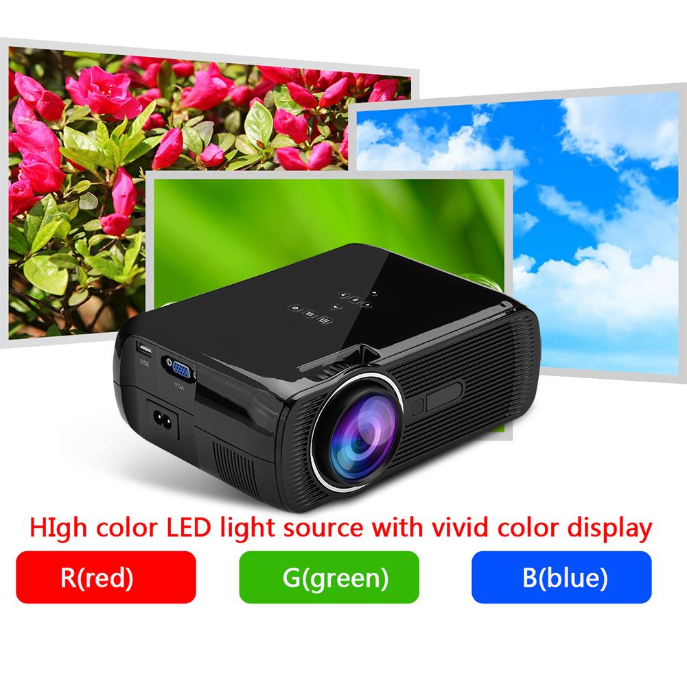 Mini 1080p Hd Multimedia Led Projector Home Cinema Theater: Mini 1080P Full HD LED Projector Home Theater Cinema 3D