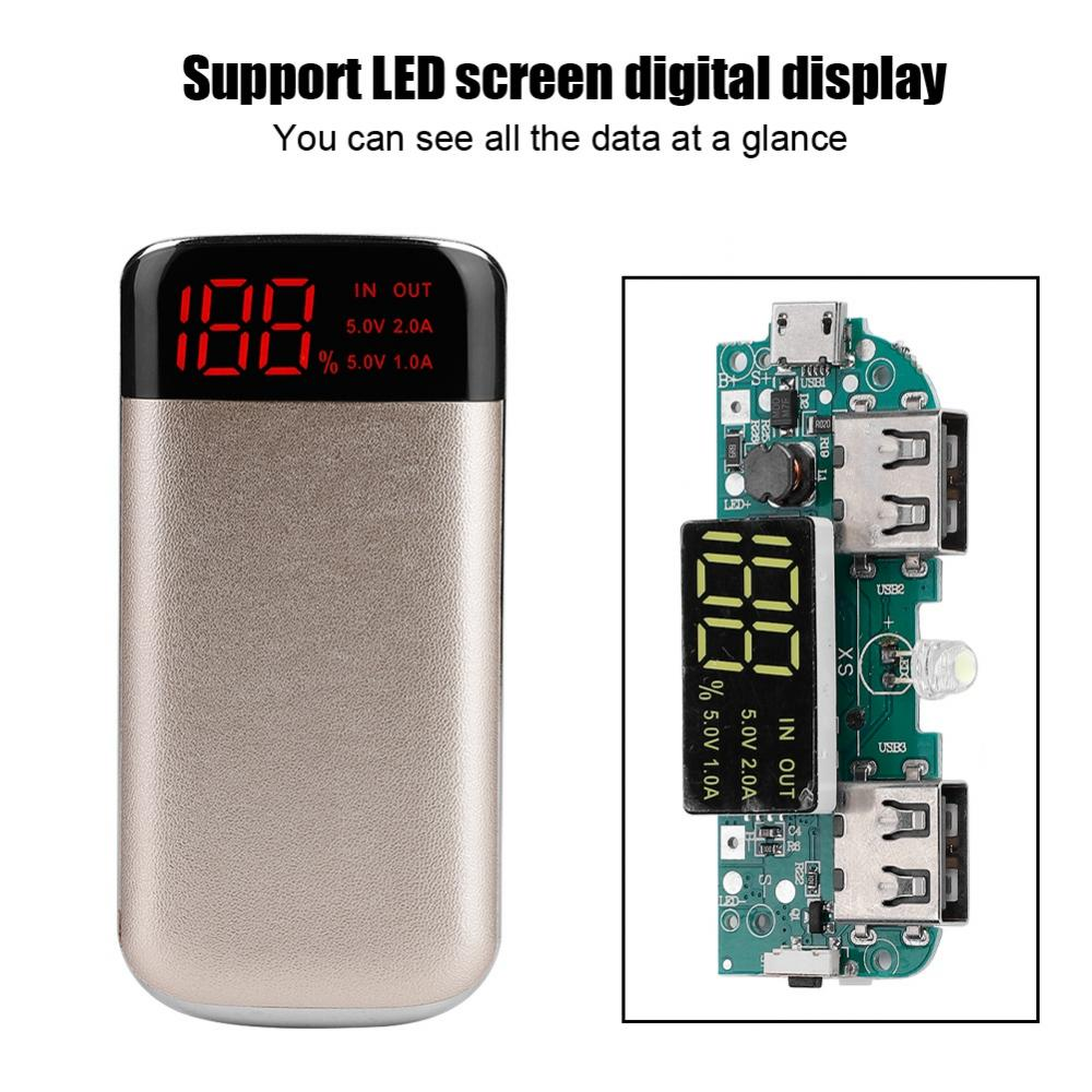 DIY-Power-Bank-Case-10000mAh-Dual-USB-Battery-Charger-Box-Shell-with-LED-Display thumbnail 29