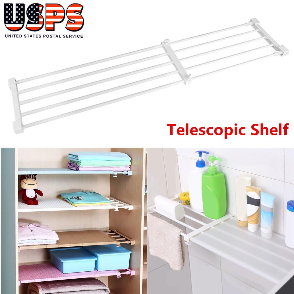 Details about Wardrobe Closet Organizer Clothes Storage Rack Kitchen  Cabinet Shelf 75~120CM