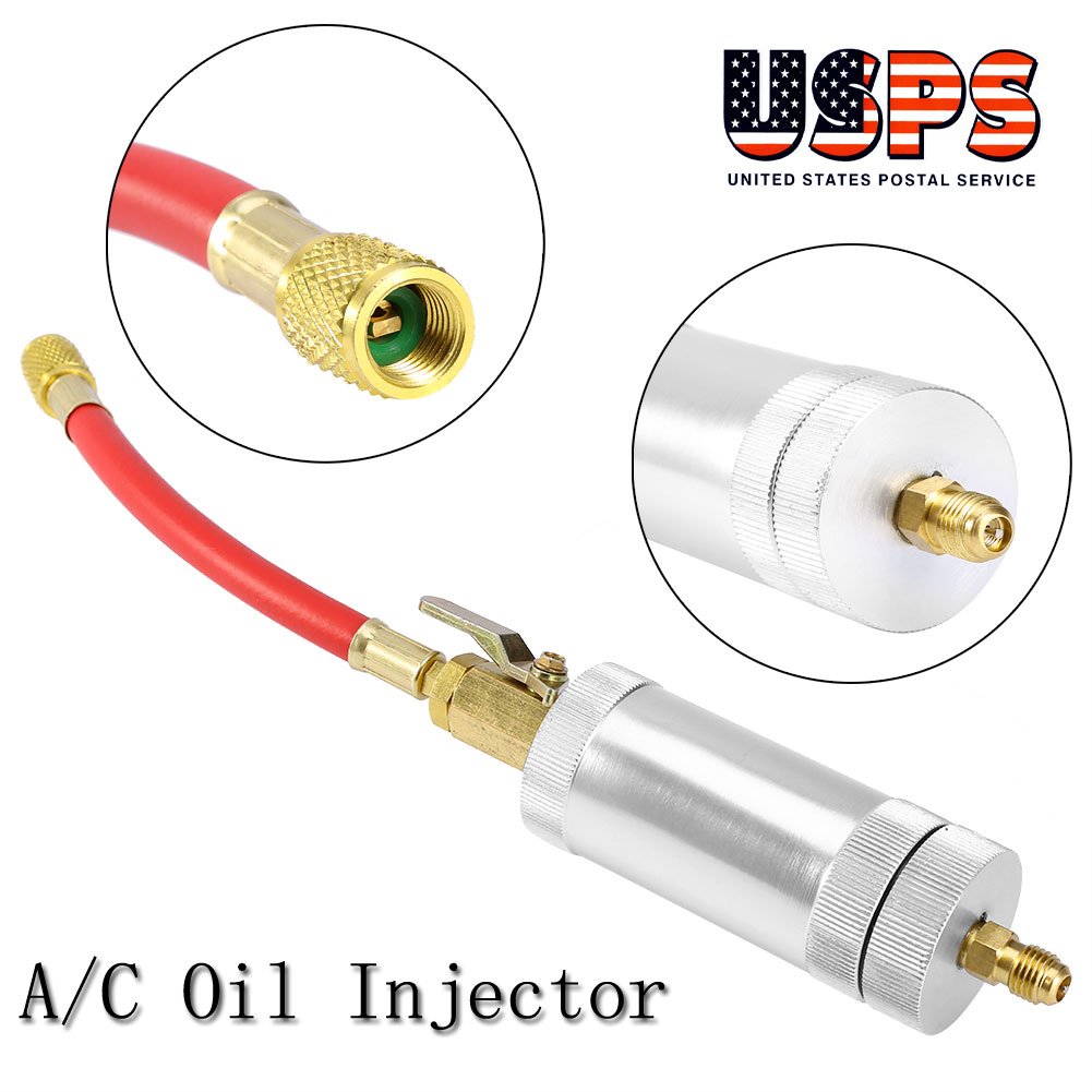 Car A//C Oil /& Dye Injector Low R12 or R134A Quick Coupler Adapter Kits Injection