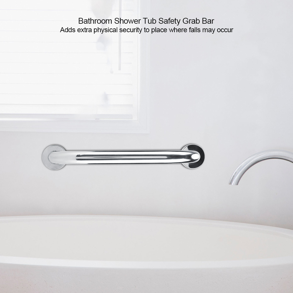 NO-SLIP Bathroom Safety Grab Bar Textured Steel Handicap Handle Rail ...