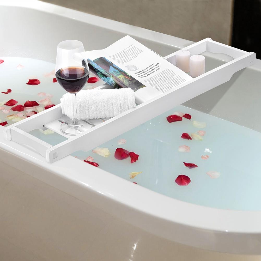 Bath Tub Book Wine Rack CHROME Plated Shower Shelf Holder Tray Caddy ...