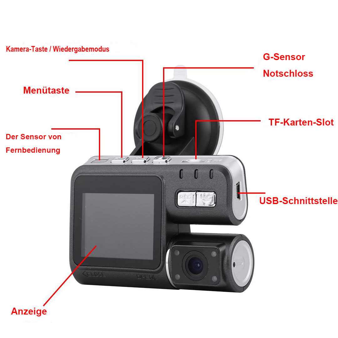 auto kamera hd 1080p dashcam recorder dvr berwachung g. Black Bedroom Furniture Sets. Home Design Ideas