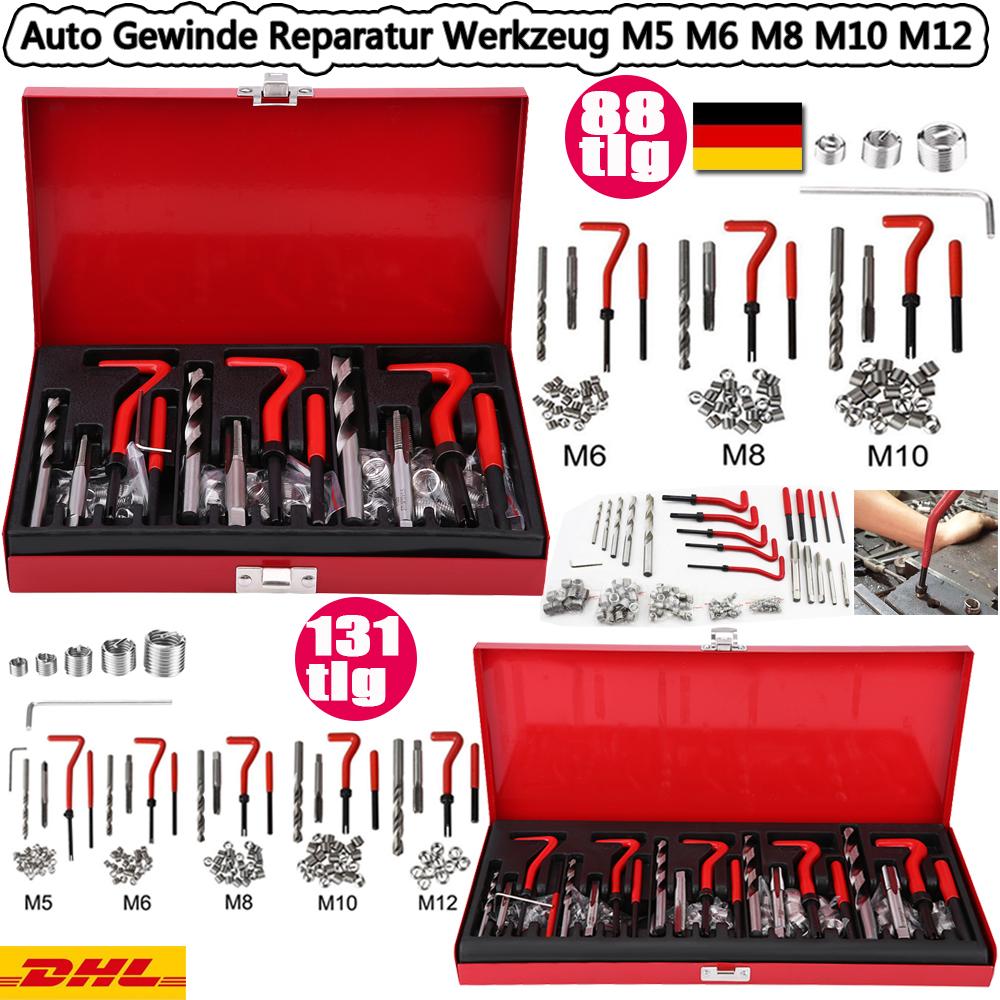 88 131tlg gewinde reparatur set helicoil motor bohrer m5 6. Black Bedroom Furniture Sets. Home Design Ideas