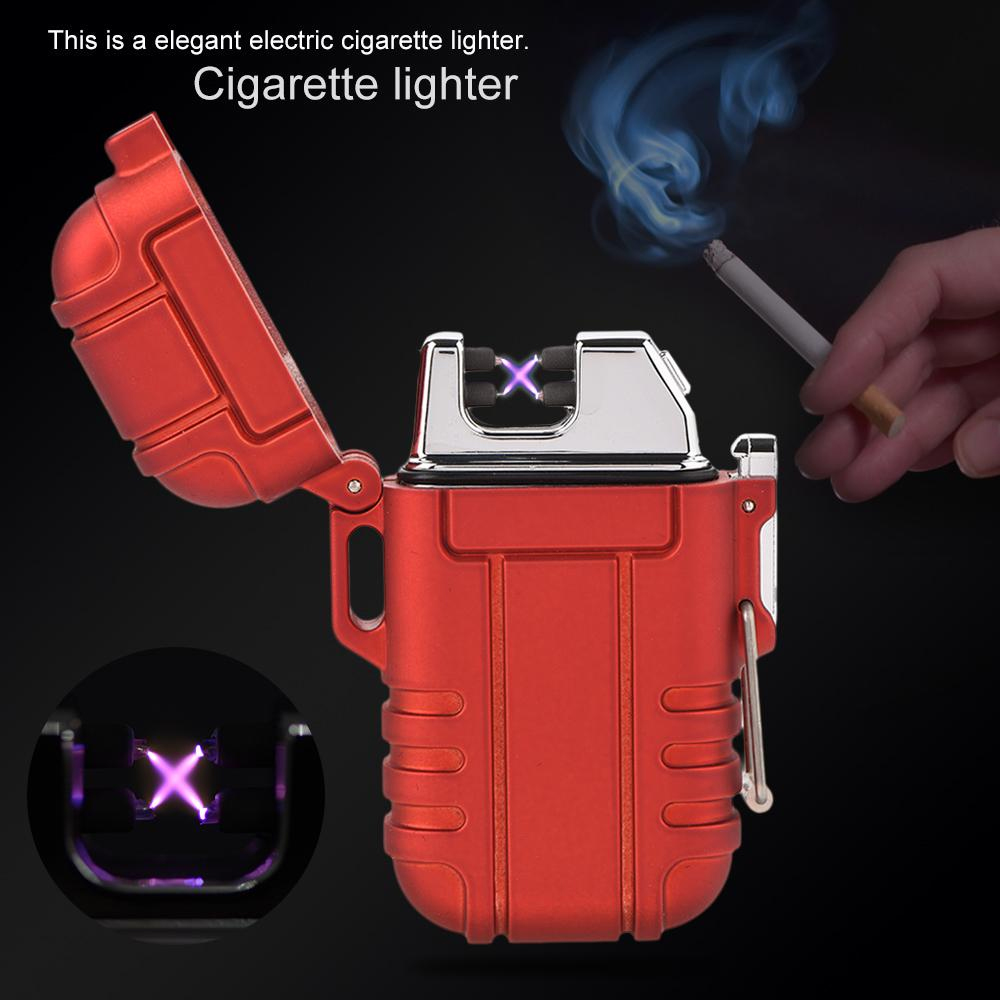 Electric-Lighter-Dual-Arc-Cigarette-Plasma-Rechargeable-Windproof-Flameless-USB
