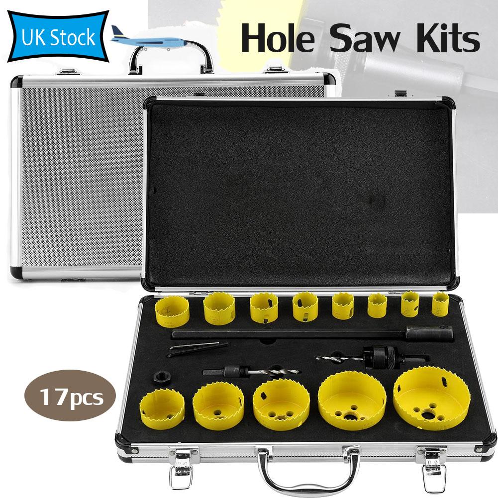 16-75mm M42 Bi Metal Hole Saw Drill Bit Set For Metal Iron Plastic Wood Cutting