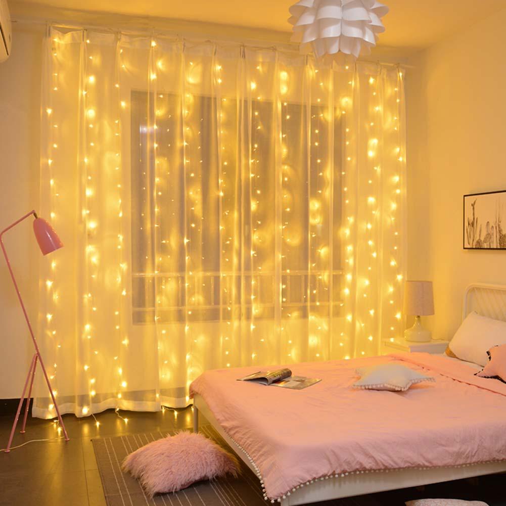 6x3m LED Curtain Light Gazebo Patio Garden Lamp String ...