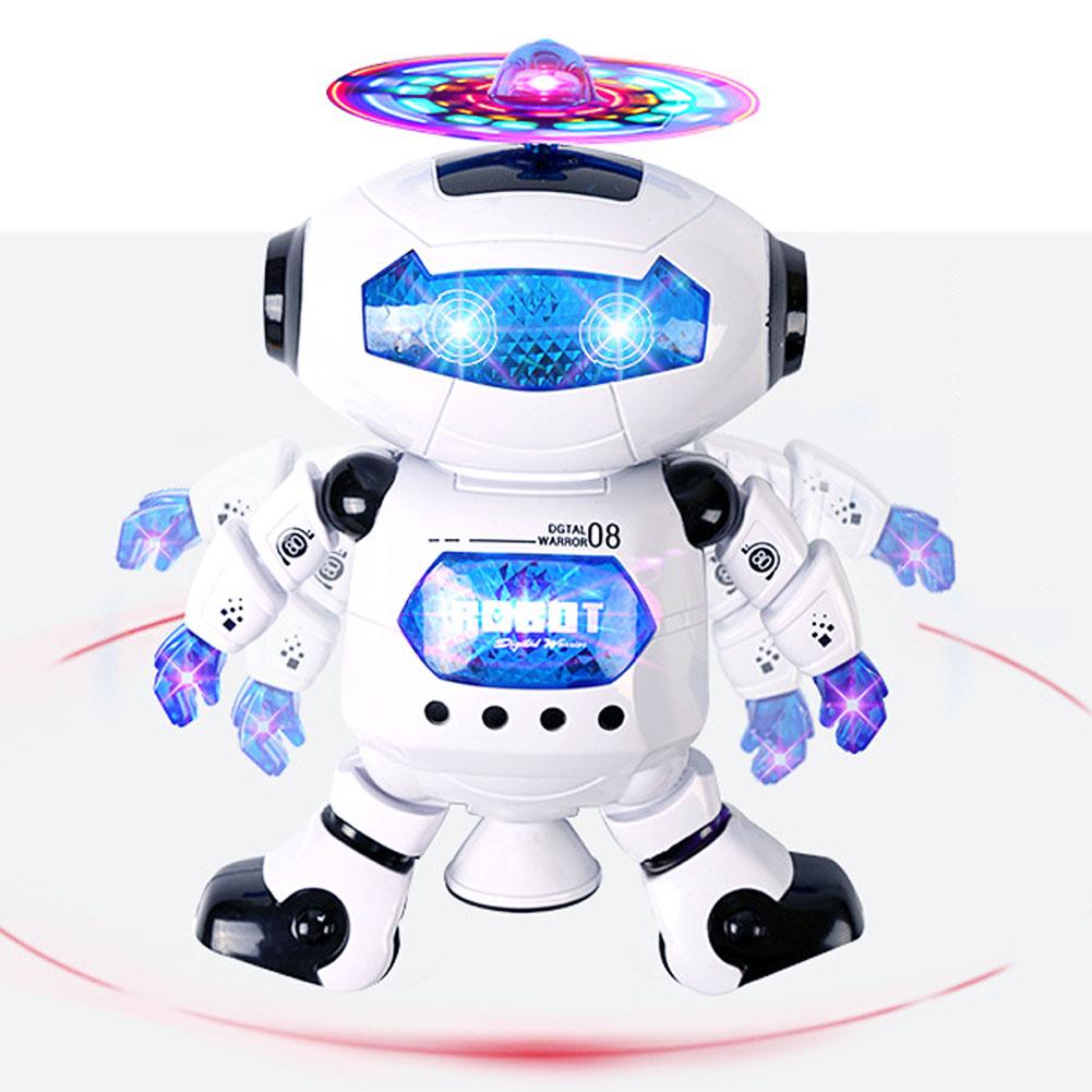 360° Roboter Singen Tänze Musik Licht Beleuchtung Humanoid Roboterspielzeug Toy