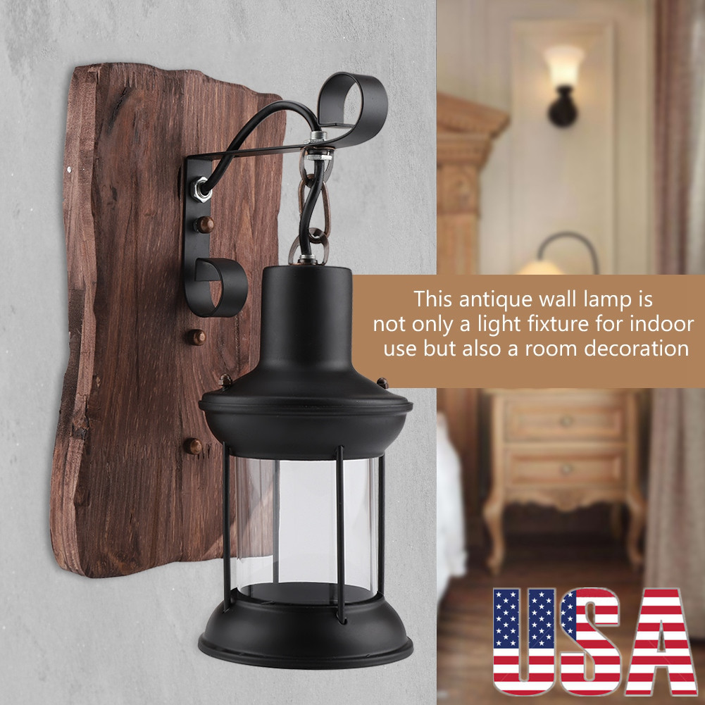 Details about retro antique vintage rustic lantern lamp wall sconce light fixture in outdoor