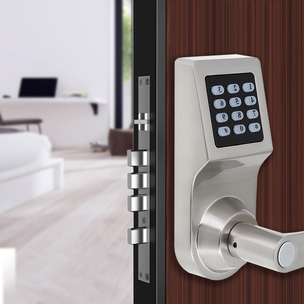 4 In 1 Digital Electronic Code Keyless Keypad Security Entry Door Gold Lock Rf Card