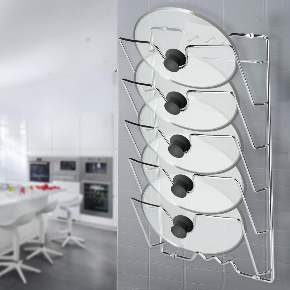 Kitchen Cabinet Chrome Rack Pot Pan Organizer Pantry Lid ...