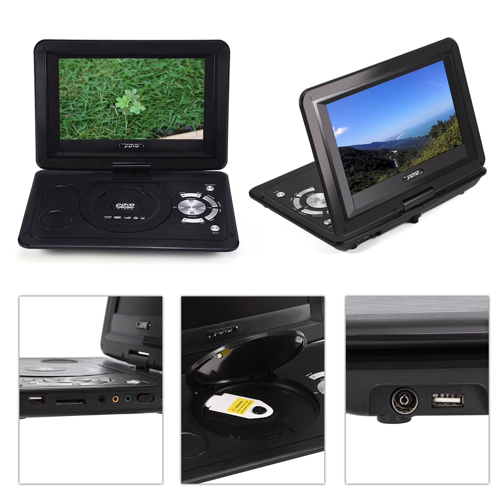 tragbarer dvd player 13 9 zoll lcd display cd spieler auto. Black Bedroom Furniture Sets. Home Design Ideas