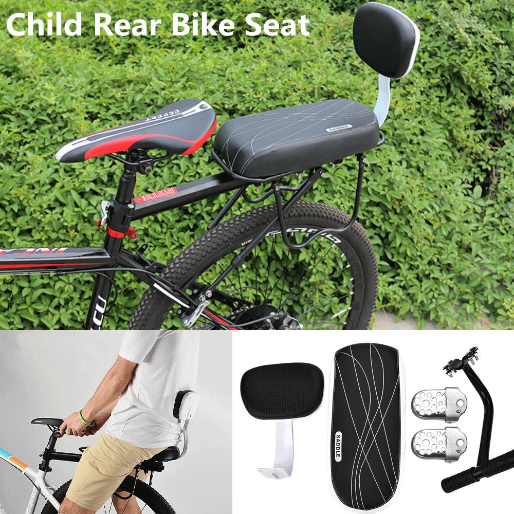 Details About 4 In 1 Bike Bicycle Rear Seat Rack Cushion Kids Child Backrest Armrest Footrests
