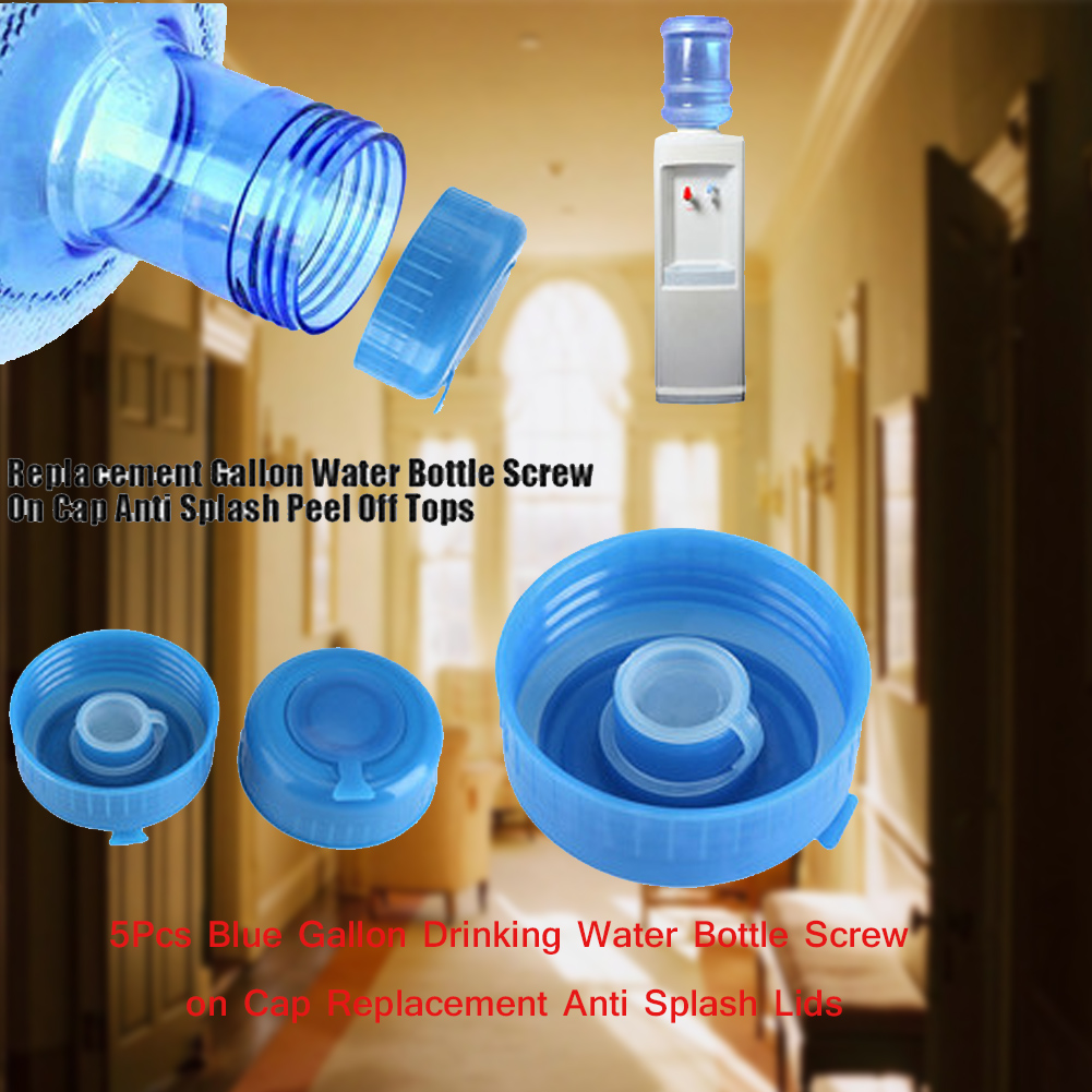 561d355a69e 5pcs Blue Gallon Drinking Water Bottle Screw On Caps Replacement Tops Lid  Cover