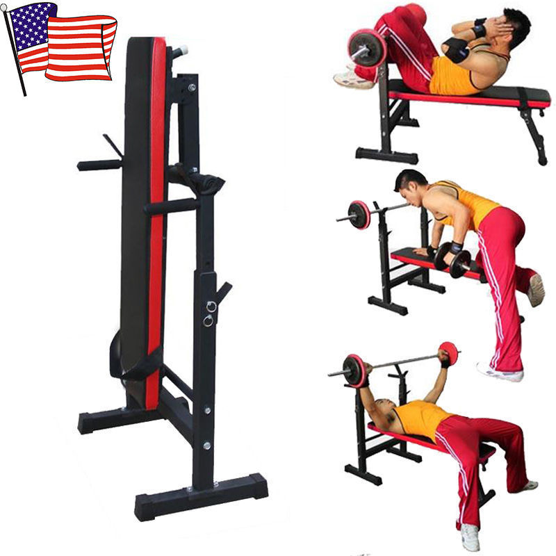 Miraculous Details About Adjustable Weight Lifting Flat Bench Rack Set Fitness Exercise Body Workout Usa Inzonedesignstudio Interior Chair Design Inzonedesignstudiocom