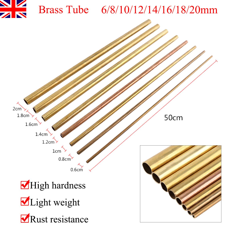 Outer Dia 10mm 12mm 14mm 16mm 18mm 20mm 6mm 6mm Brass Tube 8mm Brass Tubing Round Length 50cm Model Making