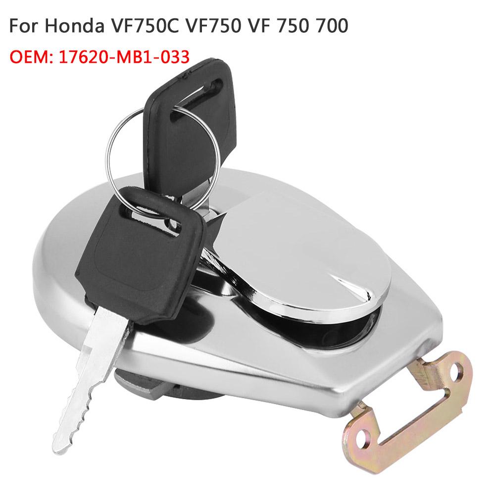Fuel Tank Lock Gas Cap Cover w// KEY For Honda VT750C VT800C Shadow VT700C VF750C