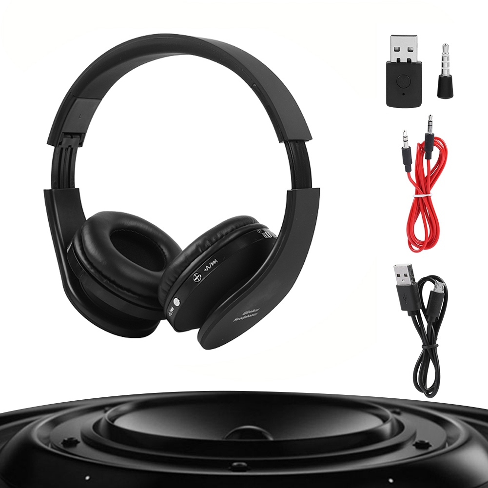 gaming headset wireless bluetooth 4 1 stereo kopfh rer set. Black Bedroom Furniture Sets. Home Design Ideas