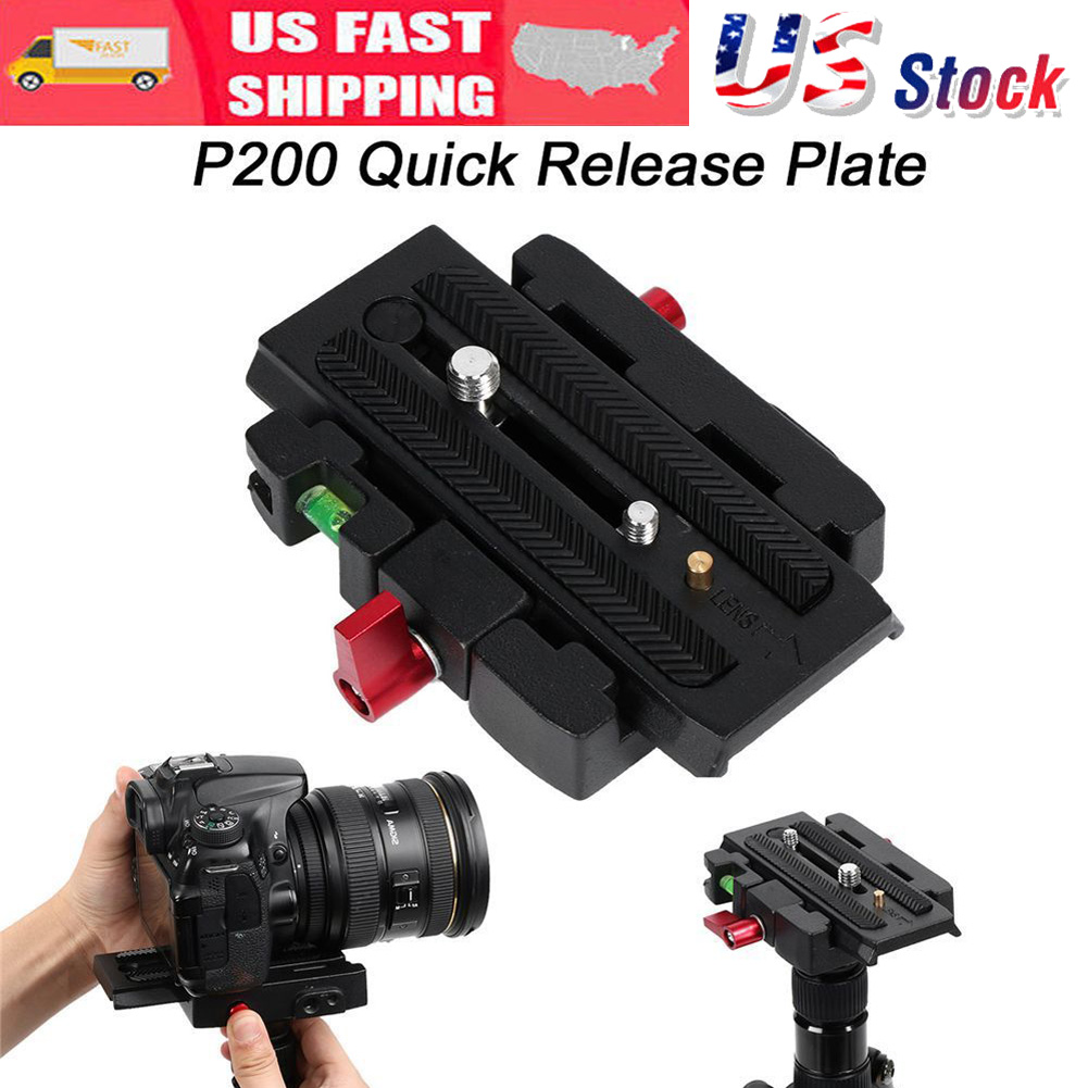 P200 Tripod Quick Release Clamp QR Plate for Manfrotto 500AH 701HDV 503HDV UK