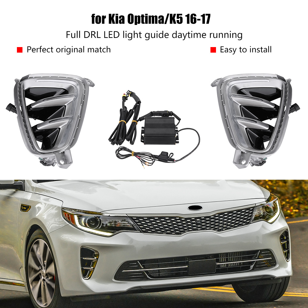 Direct For Kia Optima K5 2016 2017 White Led Drl Daytime Running Fog Light Wiring Diagram Lights Lamp