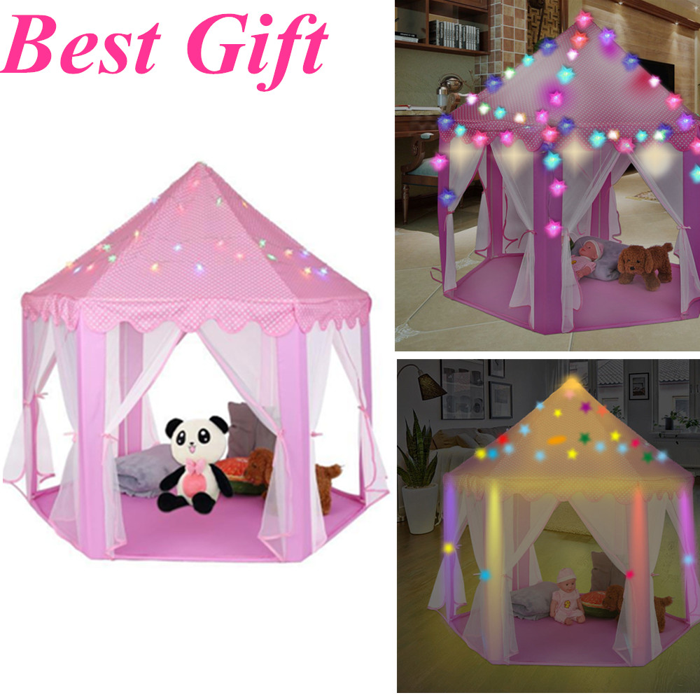 Details about Princess Castle LED Twinkle Play Tent Discovery Kids Girls Child Play Tent Toy
