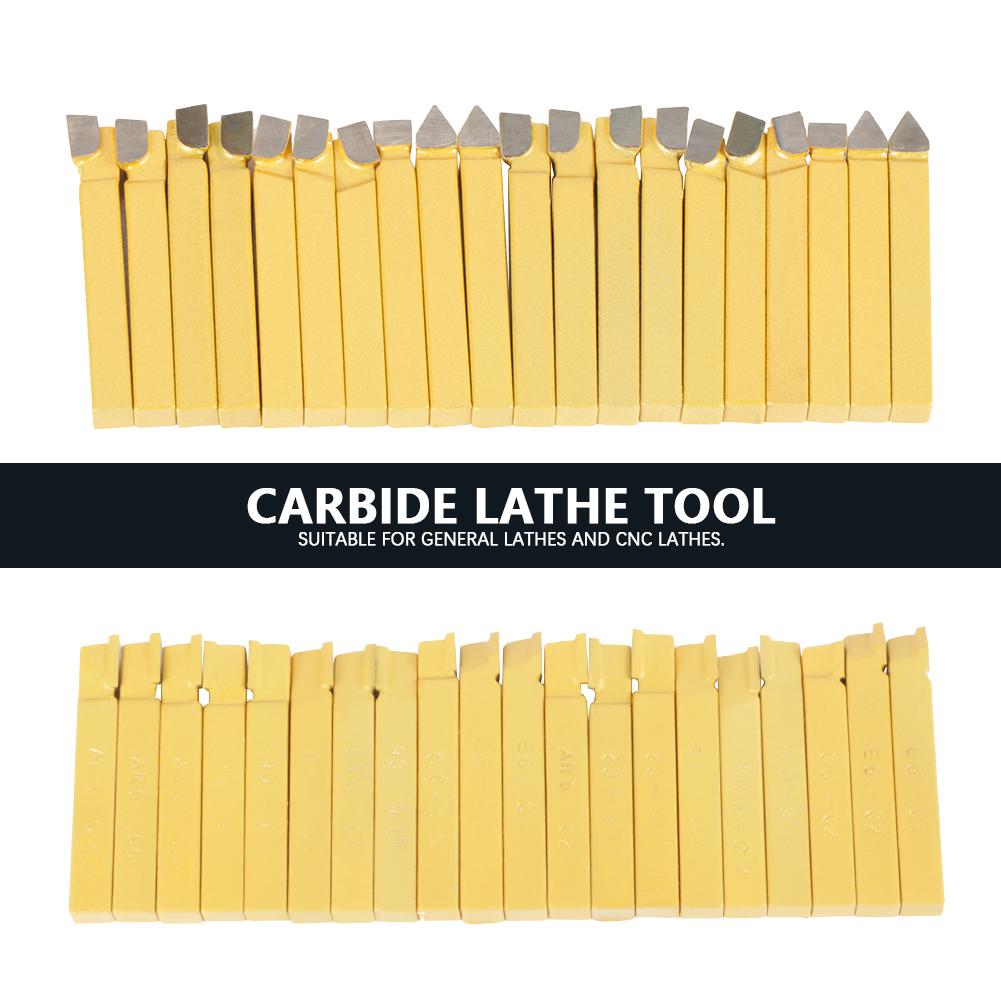 "20Pcs 8mm 3//8/"" Alloy Carbide Tipped Lathe Tools Milling Welding Bit C-2/&C6 Grade"
