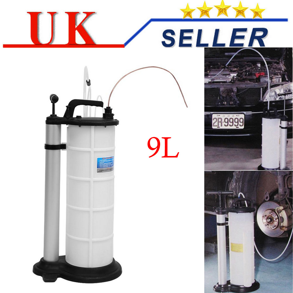 9L Waste Oil Fluid Extractor Pump Manual Suction Vacuum Fuel Car Transfer Change