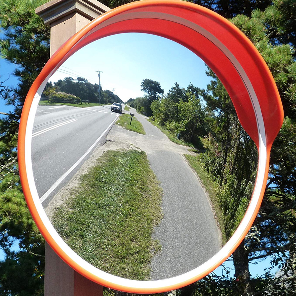 PC /& PE Wide Angle Driveway Road Safety Convex Traffic Mirror with Mounting Hardware Accessories Wide Angle Traffic Mirror 30cm