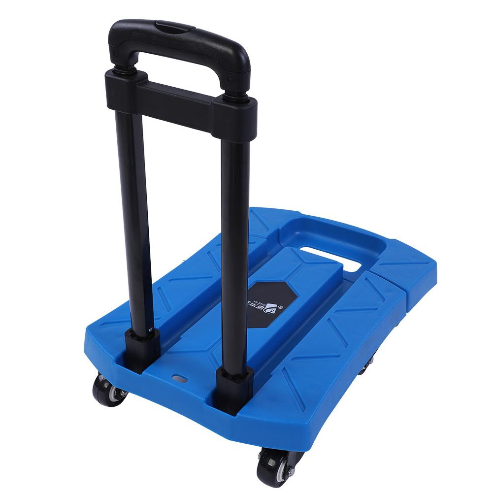 e5dc712d2c09 Details about 400KG Folding Portable Platform Trolley Hand Truck Foldable  Cart Adjustable